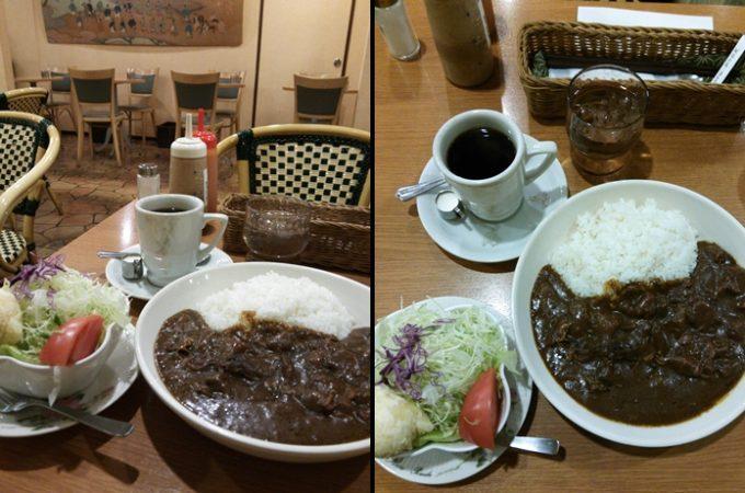 早朝の京都の町でカレー補給。マエダコーヒーの『がっつり朝カレーセット』