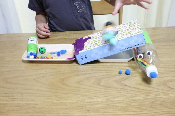 夏休み工作1年生、我が子は「転がすおもちゃ」に挑戦!