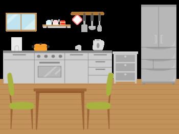 見た目がすっきりしてキッチンを広く使える